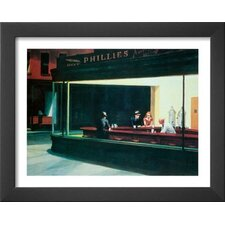Nighthawks by Edward Hopper Framed Painting Print