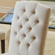 Christian Solid Wood and Upholstered Dining Chair (Set of 2)