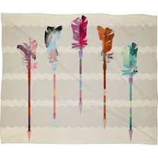 Emmanuel Feathered Arrows Throw Blanket