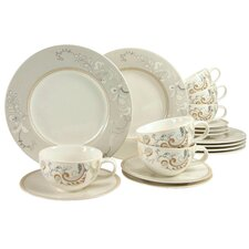 Palacio 18 Piece Dinnerware Set, Service for 6