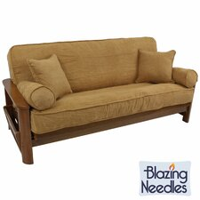 Double-corded 5 Piece Microsuede Futon Cover Set  by Blazing Needles