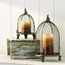 2 Piece Candle Holder Set
