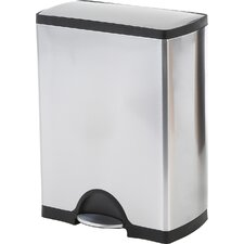 Step-On Stainless Steel 8 Gallon Trash Can