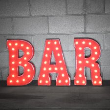 Marquee BAR Sign Letter
