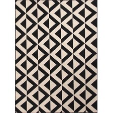 Wethersfield Ivory/Black Indoor/Outdoor Area Rug