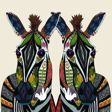 Glass Zebras Collage Licensed Tempered Glass Graphic Art