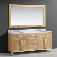 "Halcomb 72"" Double Bathroom Vanity Set with Mirror"