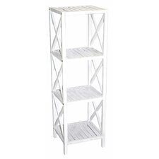 """Bamboo 4 Tier 46"""" Etagere Bookcase"""