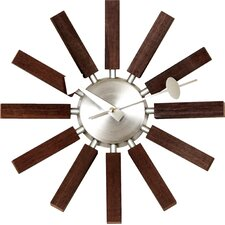 "13.5"" Wood Spokes Wall Clock"