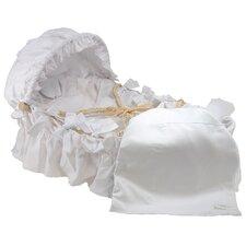 White Pique Moses Basket Blanket