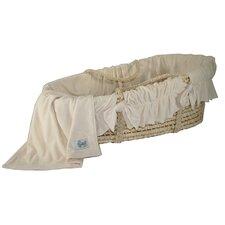 Ivory Velour Moses Basket Bedding Set
