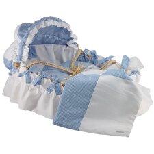 Pique Gingham Moses Basket Blanket