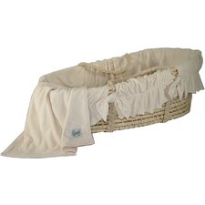 Moses Basket With Ivory Velour Bedding