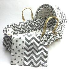 Chevron Moses Basket Blanket