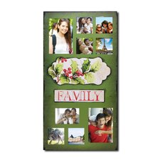 9 opening decorative christmas holiday family wall hanging collage picture frame