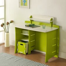 Frog Computer Desk with Accessory Shelves & File Cart