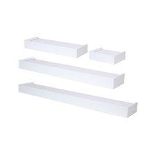 4 Piece Floating Wall Shelf Set