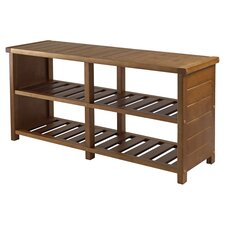 Katmai Wood Storage Entryway Bench