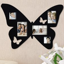 5 Opening Decorative Butterfly Wall Hanging Collage Picture Frame