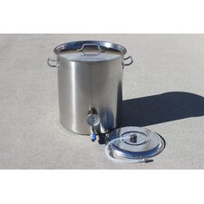 Stainless Steel Home Mash Tun Brew Kettle with 2 Welded on Couplers