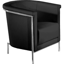Blanca Leatherette Barrel Chair