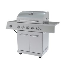5-Burner Propane Gas Grill with Cabinet