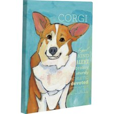 Doggy Decor Corgi 2 Painting Print on Wrapped Canvas