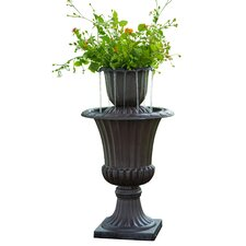Resin Outdoor Urn Flower Pot Water Fall Fountain