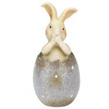 Bunny Rabbit Inside of Easter Egg Spring Figurine