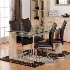 Fey Dining Set with 4 Chairs