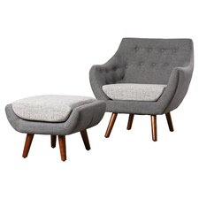 Murfreesboro 2 Piece Armchair and Ottoman Set