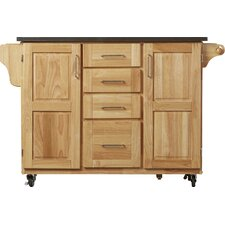 Menthe Kitchen Island with Stainless Steel Top