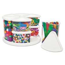 9 Piece Canister Carousel Organizer Set