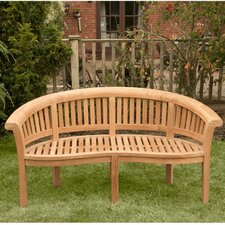 Windsor Curved 3 Seater Teak Bench