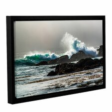 the wave long beach framed photographic print