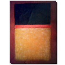 No. 9 (Dark Over Light Earth) by Mark Rothko Painting Print on Wrapped Canvas