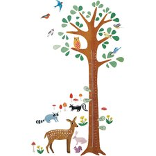 Woodland Growth Chart Interactive Wall Decal
