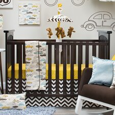 Traffic Jam 3 Piece Crib Bedding Set