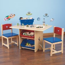 Children's 3 Piece Rectangular Table and Chair Set
