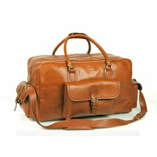 """18"""" Leather Overnight Carry-On Duffel"""