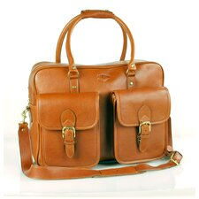 """18"""" Leather Gym Bag with Front Pockets"""