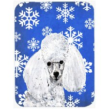 Snowflakes Toy Poodle Glass Cutting Board