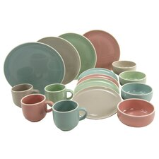 Chicago Pastell 16 Piece Dinnerware Set, Service for 4