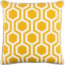 Antonia Geometric Square Woven Cotton Throw Pillow Cover