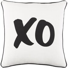 Carnell XO Cotton Throw Pillow Cover