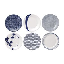 """Pacific 9"""" Accent Plates (Set of 6)"""
