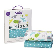Snuz Rootin' Tootin' 2 Piece 100% Cotton Moses Basket / Pram Fitted Sheets Set