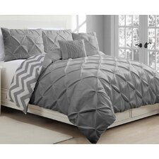 Germain 5 Piece Reversible Duvet Cover Set