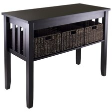 Robbinston Console Table And Baskets  by Breakwater Bay