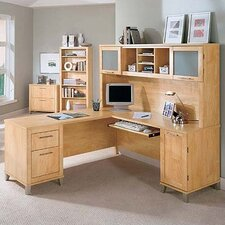 """Powder Hollow Collection 70"""" Desk Home Office Suite"""